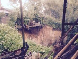 Longsor yang terjadi di Kelurahan Talikuran, Kawangkoan Utara, Kabupaten Minahasa