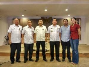 Wagub Sulut Steven Kandouw, didampingi Sekdaprov Sulut Edwin Silangen, Asisten II Rudy Mokoginta, Asisten III Roy Roring, bersama pimpinan Minahasa Permai Resort Development (MPRD)