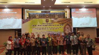 Karo Protokol dan KKP Sulut dr. Bahagia Mokagow, ketika mengikuti rakor yang digelar Kemendagri