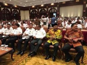 Gubernur Sulut Olly Dondokambey, ketika menghadiri rakornas Tim Terpadu Penanganan Konflik Sosial 2017, yang dibuka Mendagri Tjahjo Kumolo