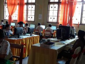 Siswa SMK Dharma Bhakti sementara