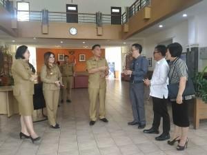 Senator SBAN Liow bersama Wali Kota Tomohon, Wawali dan Ketua DPRD Tomohon