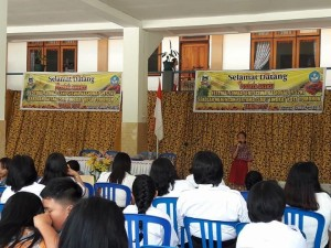 LOmba FL2SN di SMP Katolik Stella Maris Tomohon