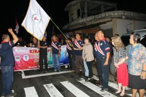 Wali Kota melepas Kirab Api POR yabg akan melanjutkan perjalanan ke Pineleng