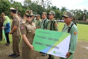 Meriah, Puncak Peringatan HUT Pol PP, Linmas dan Damkar Di Kota Tomohon