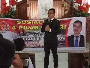 SBAN Liow Sosialisasi Empat Pilar di Minahasa Utara