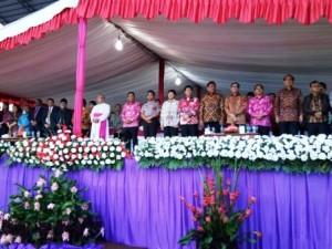 Ibadah Agung Perayaan Paskah Nasional 2017, Menkumham RI Ajak Umat Kristen Tebar Bibit Perdamaian