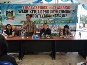 Resses Wakil Ketua DPRD Youddy YY Moningka SIP di Matani Tiga Tomohon Tengah
