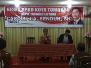 Resses Wakil Ketua Caroll YA Senduk SH di Kelurahan  Kakaskasen Dua