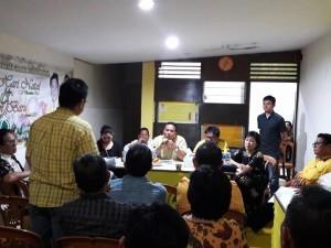 Rapat Persiapan Rakerda DPD II Partai Golkar Tomohon