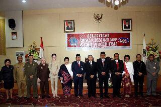 Bupati saat menghadiri pelantikan Kepala BPKP Sulut Kwinhatmaka SE MM