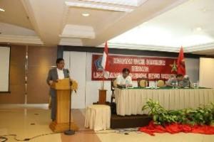 Wagub Sulut Steven Kandouw, ketika membuka kongres Nasional ke -VII Liga Mahasiswa Nasional untuk Demokrasi