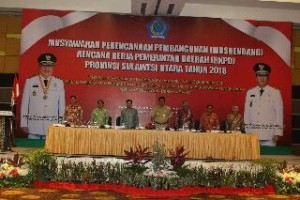 Gubernur Sulut Olly Dondokambey, memimpin pelaksanaan Musrembang RKPD Tahun 2018 Pemprov Sulut