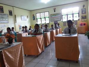 Siswa sementara ujian nasional