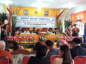 Rapat Senat Terbuka Unsrit Pelantikan Rektor