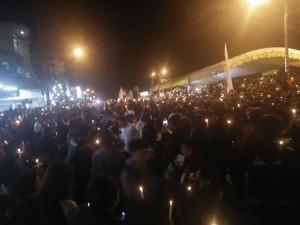 Ribuan likin dinyalakan sebagai bentuk keprihatinan terhadap keadilan di Indonesia