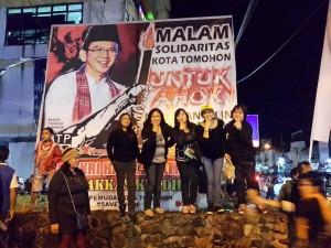 Malam Solidaritas Kota Tomohon Untuk Ahok