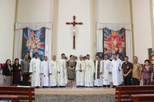 SAS menghadiri Ibadah Paskah Umat Katolik se-Kevikepan Tomohon
