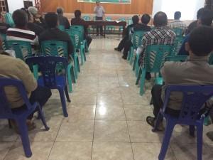 Diskusi yang dilaksanakan di Balai Pertemuan GMIM Imanuel Walian