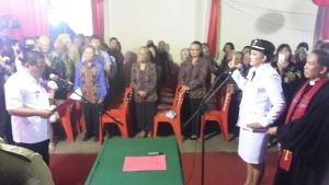 Hari Keempat Pelantikan Hukum Tua, Bupati Minta Warga Dukung Pemerintah Desa