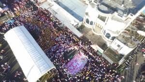 Ribuan masyaraiat Kota Tomohon antusias turun ke jalan sebagai bentuk aksi bela NKRI