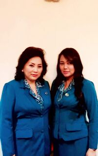 Ketua TP-PKK Sulut Ny Ir Rita Maya Dondokambey-Tamuntuan, dan Wakil Ketua PKK Sulut Ny dr Devi Kandouw-Tanos.