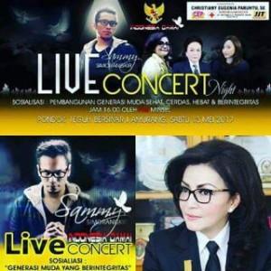 Dimeriahkan Sammy Simorangkir, Sekda Minsel Ajak Warga Hadiri Live Concert Indonesia Damai
