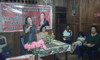Reses Anggota DPRD Meyfi Karuh SH di Desa Kumelembuai Atas