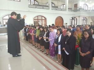 Panitia Konven Pelsus Perempuan GMIM saat dilantik