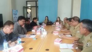 Hearing Komisi II DPRD Tomohon dengan Dinas Ketahanan Pangan