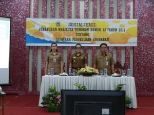 Sosialisasi Tata Cara Pergeseran Anggaran di lingkup Pemkot Tomohon