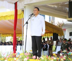 Wali Kota Tomohon saat menjadi Irup Peringatan  Hari Lahirnya Pancasila