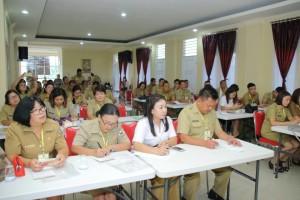 Peserta pelatihan perangkat kelurahan