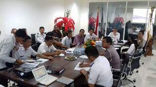 Rapat Forum LLAJ Minsel yang dipimpin Wakil Bupati Frangky Donny Wongkar (foto ist)