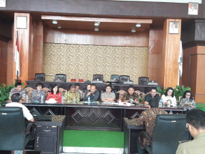 Jajaran Pemkot Tomohon menerima kunjungan DPRD Kabupaten Semarang