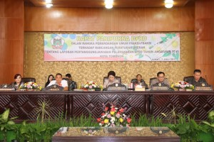 Wali Kota, Wakil wali Kota serta Pimpinan DPRD Tomohon