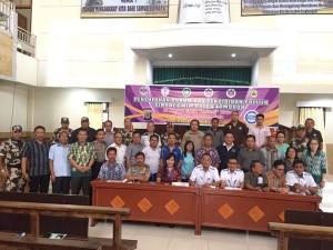 Pembekalan tentang Pencegahan Konflik Sosial dan Penyakit Masyarakat (Pekat) serta Pendidikan Politik Gereja Rayon Tomohon yang dilaksanakan di GMIM Baitani Matani Wilayah Tomohon Satu Jumat (14/7/2017)
