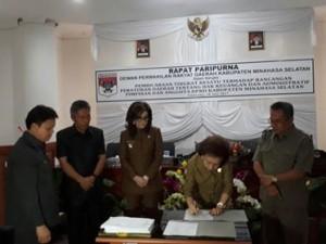 DPRD Minsel Gelar Paripurna Tingkat Kesatu Ranperda Hak Keuangan dan Adminstrasi Pimpinan dan Anggota DPRD4