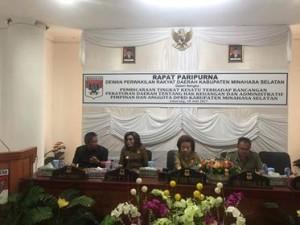 DPRD Minsel Gelar Paripurna Tingkat Kesatu Ranperda Hak Keuangan dan Adminstrasi Pimpinan dan Anggota DPRD5