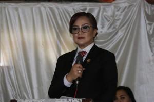 Wakil Wali Kota Syerly Adelyn Sompotan saat memberikan sambutan