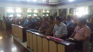 Peserta pembekalan di Jemaat GMIM Imanuel Aertembaga Bitung Dua