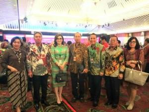 Wali Kota Tomohon  Jimmy F Eman SE Ak dan peserta Rakornas Pengendalian Inflasi