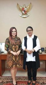 Wakil Wali Kota Tomohon  dan Menteri Pemberdayaan Perempuan dan Perlindungan Anak