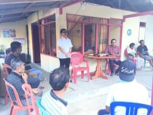 Senator Ir Stefanus BAN Liow menyerap aspirasi di Desa Mangkid Kecamatan Belang Minahasa Tenggara