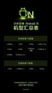 Smartphone Xiaomi,  Android Nougat, Xiaomi Nougat