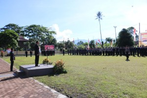 Wali Kota Tomohon bertindak sebagai Inspektur Upacara HUT ke-71 Polri