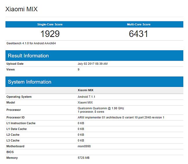 Xiaomi Mi Mix 2 ,  spesifikasi Xiaomi Mi Mix 2 ,