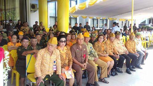 Anggota Veteran di Minsel saat menghadiri upacara peringatan