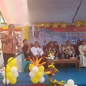 Drs Jantje Wowiling Sajow MSi , Uskup Manado, Mgr Benedictus Estephanus Untu MSc, Paroki Kristus Raja,