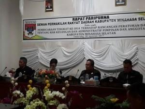 DPRD Minsel ,  Ranperda Hak Keuangan